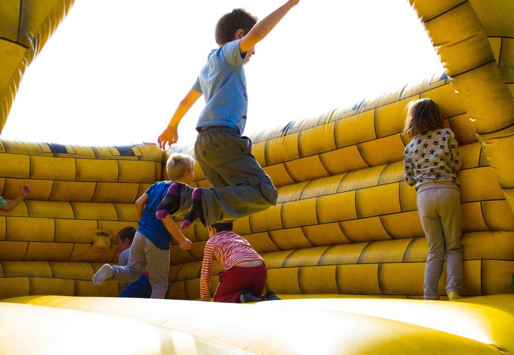 action-activity-bouncy-castle